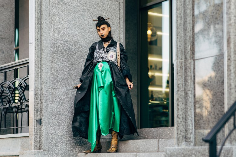 TBILISI'S MOST PHOTOGRAPHED STREET STYLE STAR ACCESSORIZES WITH PLASTIC DOLLS